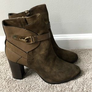 AERIN High Heeled Brown Leather Ankle Boots